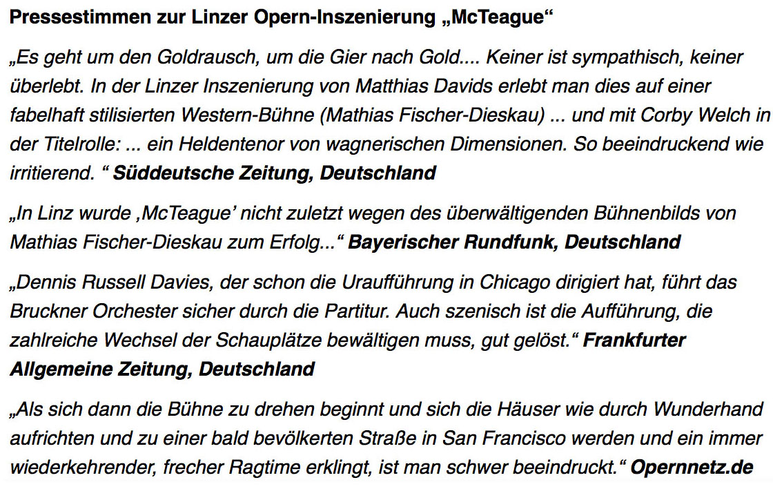 Pressestimmen Mcteague